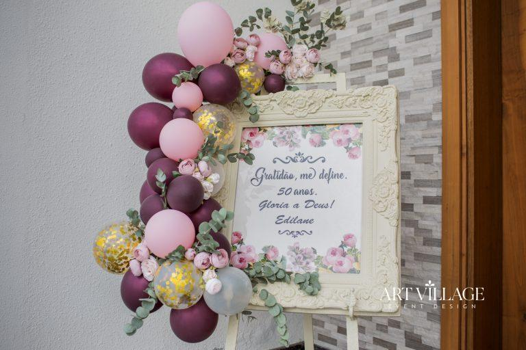 balloon and welcome board design
