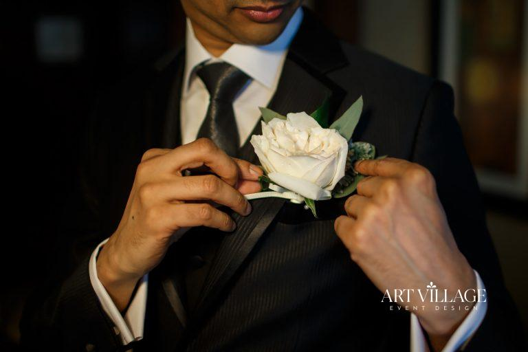 Boutonnière groom accessories