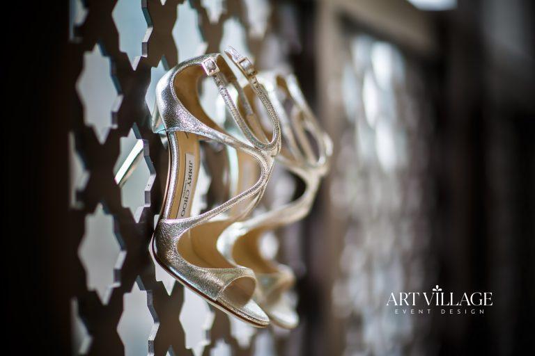 Elegant shoe for bride