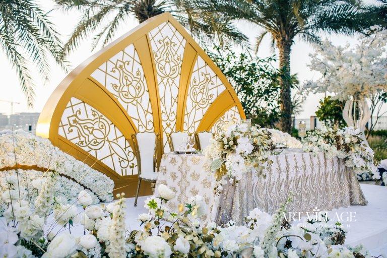 beautiful bridal stage design