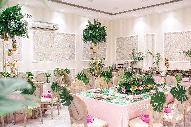 tropical theme party decorations UAE